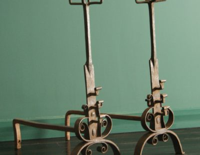 Mid 19th Century Wrought-Iron Andirons (Sold)