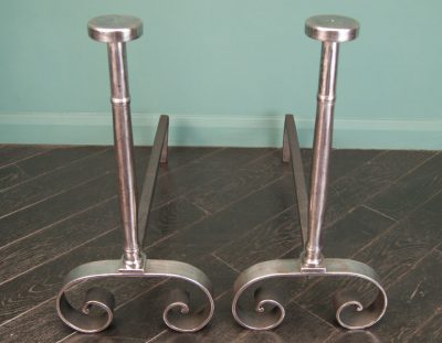 Polished Wrought Andirons (SOLD)