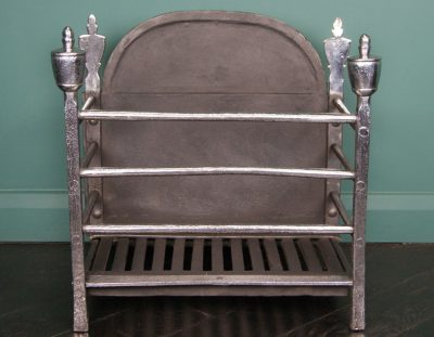 Polished Wrought Railed Fire Basket (Sold)