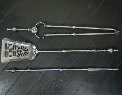 Polished Engraved Fire Irons (Sold)