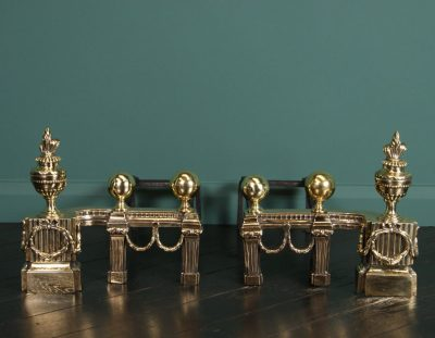 Early 19th Century Brass Chenets