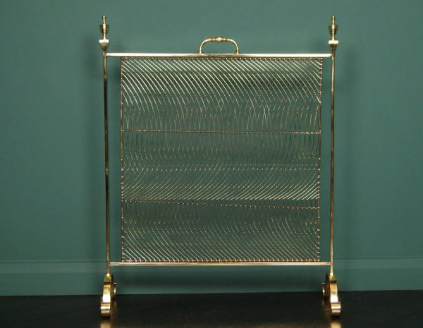Brass Fire Screen by Thomas Elsley (SOLD)