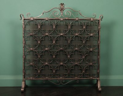 Decorative Quatrefoil Fire Screen