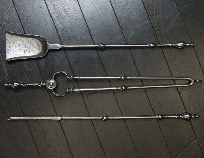 18th Century Urn Top Fire Irons