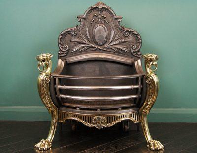 19th Century Brass & Cast-Iron Grate (Sold)