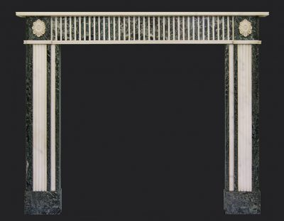 Tinos & Statuory Marble Fireplace Chimneypiece