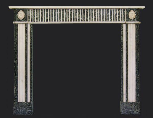 Tinos & Statuory Marble Fireplace Chimneypiece