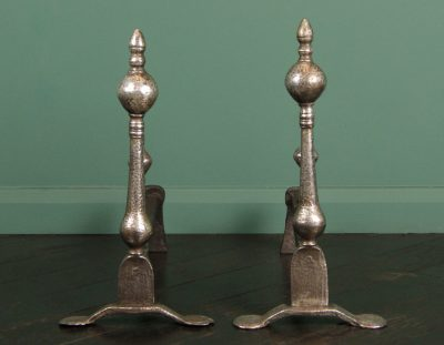 Early English Wrought Andirons (Sold)