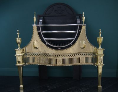 English Brass and Wrought-Iron Grate