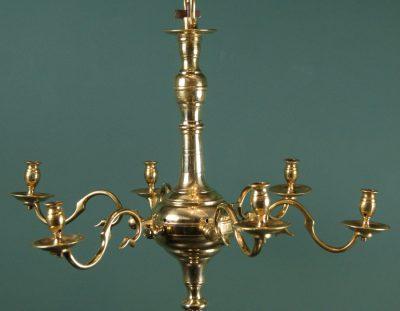 18th Century English Brass Chandelier