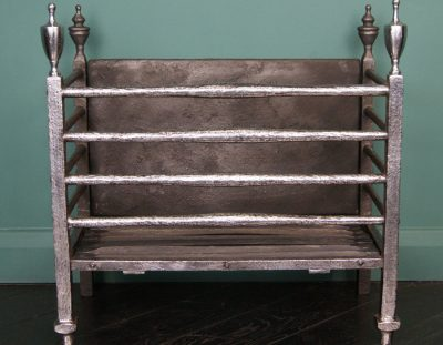 Polished Wrought-Iron Fire Basket (SOLD)