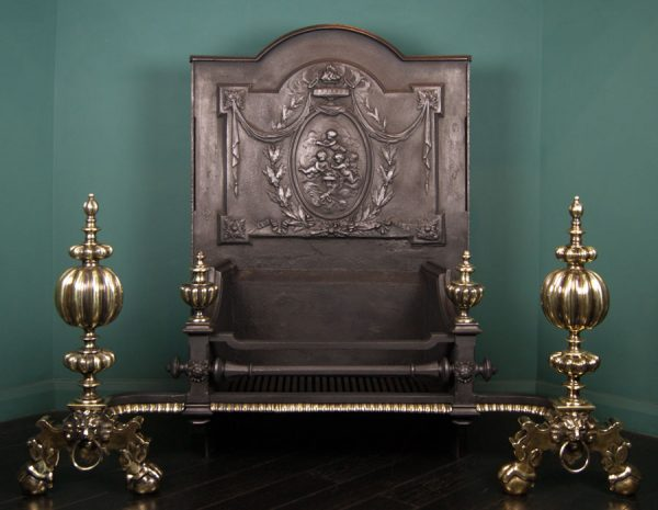 A Monumental 19th Century Baroque Fire Grate