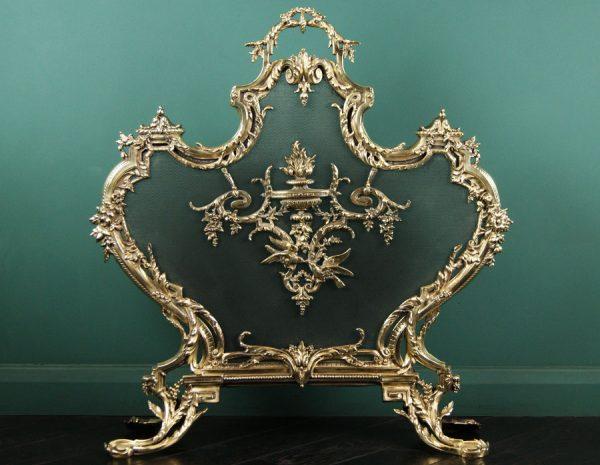 Brass Rococo Fire Screen