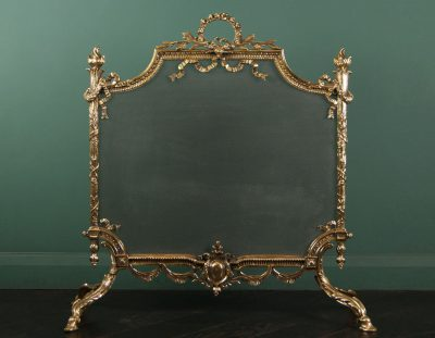 Brass English Ornate Fire Screen