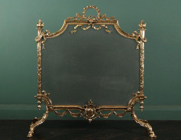 Brass English Ornate Fire Screen