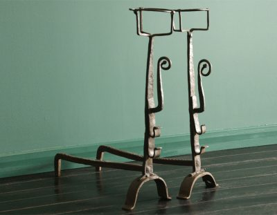 Early 19th Century Wrought-Iron Andirons (SOLD)