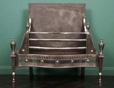 English Polished Steel Fire Grate (Sold)