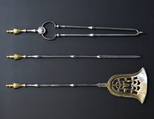 18th Century Brass & Steel Fire Tools (Sold)