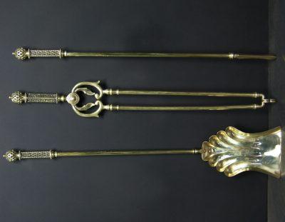 Decorative Brass Fire Tools