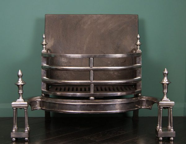 Large George III Polished Wrought Grate (Reserved)