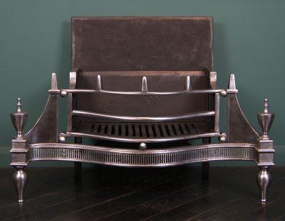 Large Polished Steel Dog Grate