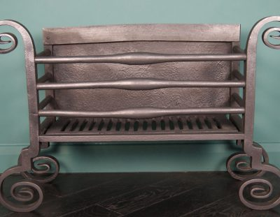 Scrolled Wrought Fire Basket (Sold)