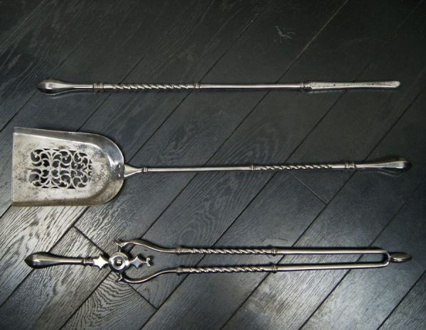 Polished Steel Fire Irons
