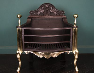 Cast-Iron and Brass Fire Basket