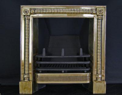 Polished Brass Georgian Register Grate