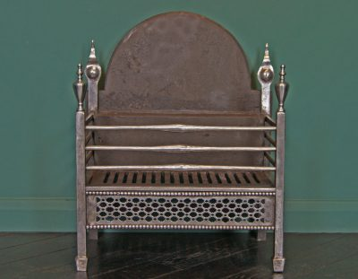 Wrought-Iron Railed Fireplace Basket (SOLD)