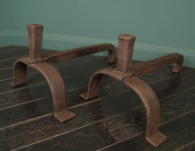 Early English Wrought-Iron Fire Dogs (SOLD)