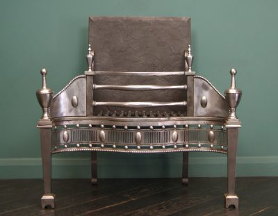 19th Century Polished Steel Dog Grate