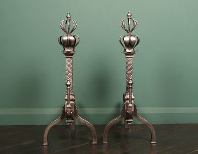 English Gothic-Revival Andirons