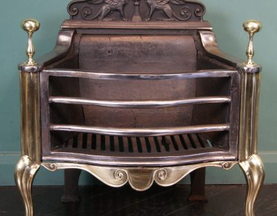 Cast-Iron and Brass Fire Basket (SOLD)