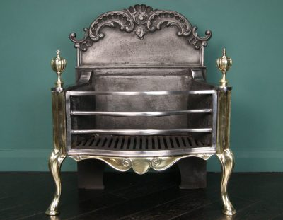 Polished Wrought & Brass Fire Basket (SOLD