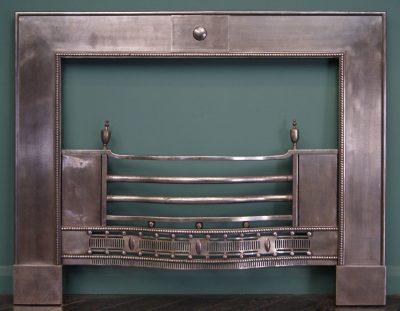 Large Polished Steel Register Grate