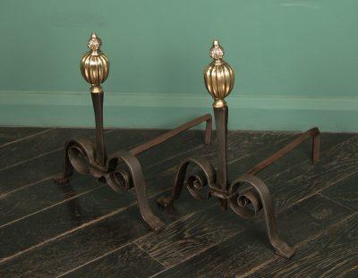 Italian Wrought & Bronze Andirons (SOLD)