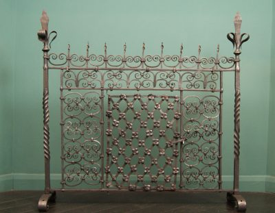 Large 18th C Hand-Wrought Fire Screen (Reserved)