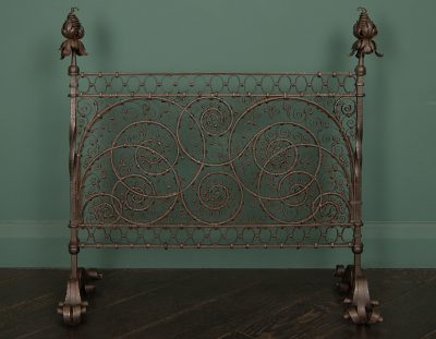 Small Fine Wrought-Iron Fire Guard