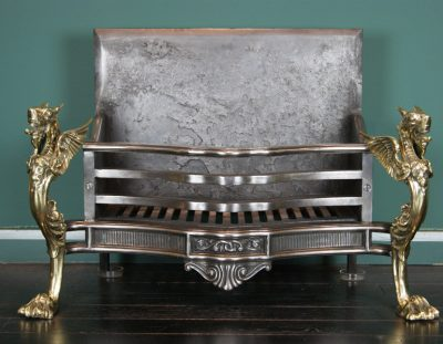Large Cast-Iron and Brass Log Grate (SOLD)