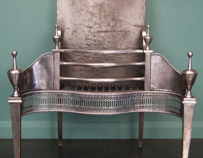 Polished Steel Fire Grate (SOLD)